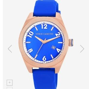 Vince Camuto Rose Gold Tone Stainless Steel Blue S